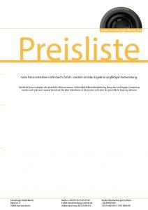 PDF-Datei Preisliste